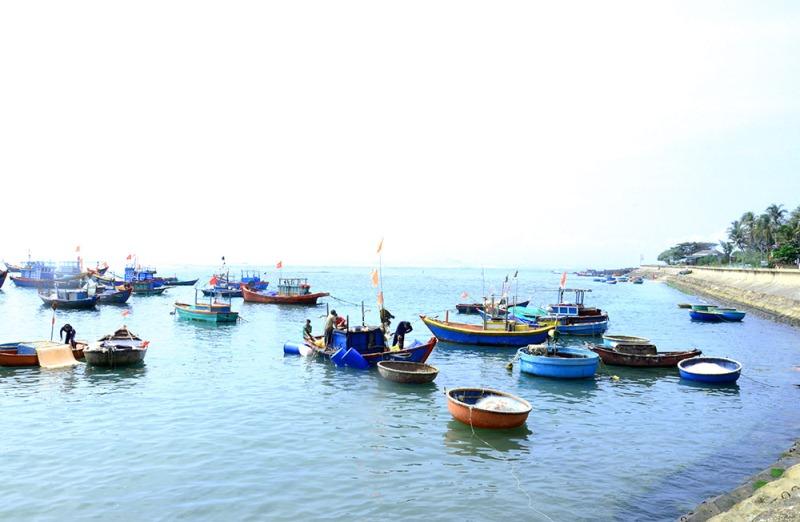 Tàu cá về trên đảo Lý Sơn, tỉnh Quảng Ngãi